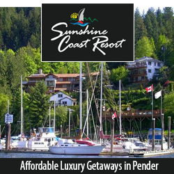 Sunshine Coast Resort - Ocean front accommodation in Pender Harbour