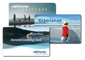 BC Ferries Coast, Experience and Assured Loading Cards