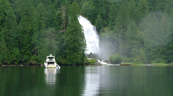 Chatterbox Falls, Princess Louisa Inlet, with Sunshine Coast Tours