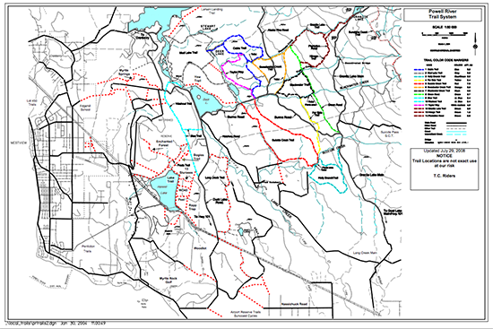 Powell River Trails Map