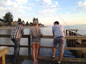 Hanging out on the Davis Bay Pier