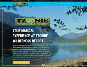 Tzoonie Resort web site