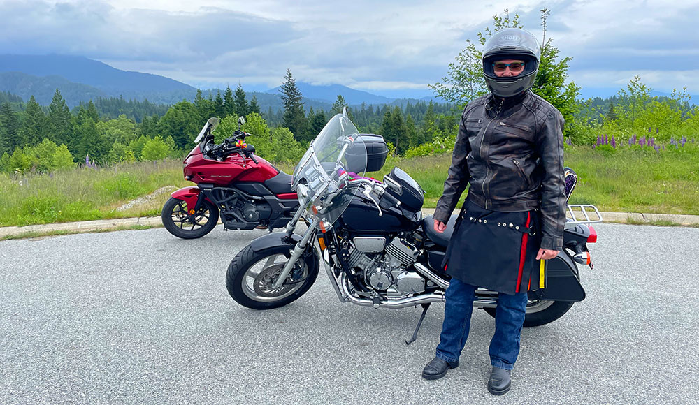 Picture of two motorcycles for the Sunshine Coast Pride Ride 2021